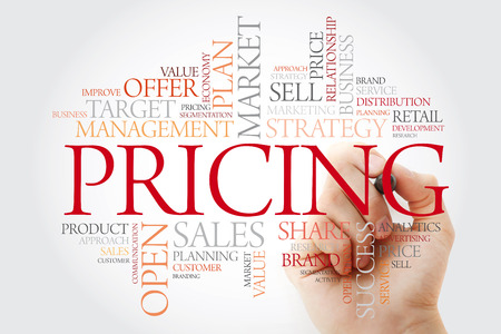 Pricing word cloud with marker, business concept background Stok Fotoğraf