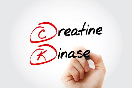 CK - Creatine Kinase acronym with marker, concept background