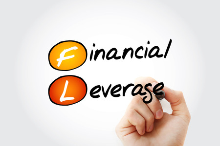 FL - Financial Leverage acronym with marker, business concept background 스톡 콘텐츠