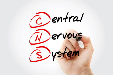CNS - Central Nervous System acronym with marker, concept background Stock Photo