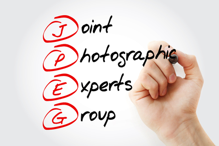 JPEG - Joint Photographic Experts Group acronym with marker, concept background Фото со стока - 116499970