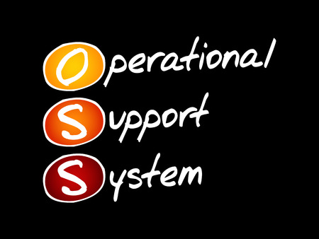 OSS - Operational support system acronym, technology concept background Ilustração