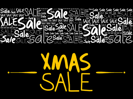XMAS SALE word cloud collage, business concept background Banque d'images - 125047709