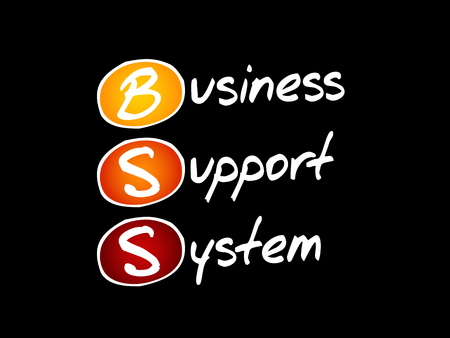 BSS - Business Support System, acronym concept background