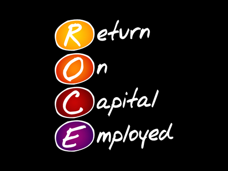 ROCE - Return On Capital Employed, acronym business concept Ilustracja
