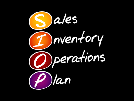 SIOP - Sales Inventory Operations Plan, acronym business concept background