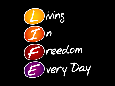 LIFE - Live It Fully Everyday, acronym business concept