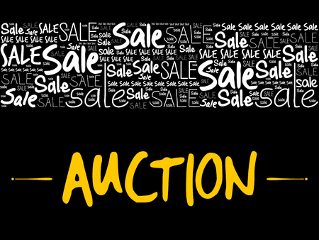 AUCTION word cloud collage, business concept background