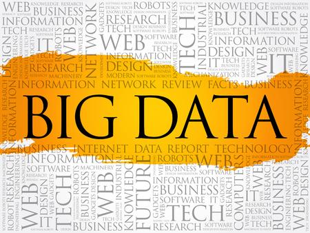 Big Data word cloud collage, technology concept background Archivio Fotografico - 124949132