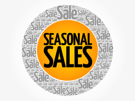 SEASONAL SALES words cloud, business concept background