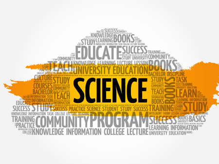 SCIENCE word cloud collage, education concept background Illustration
