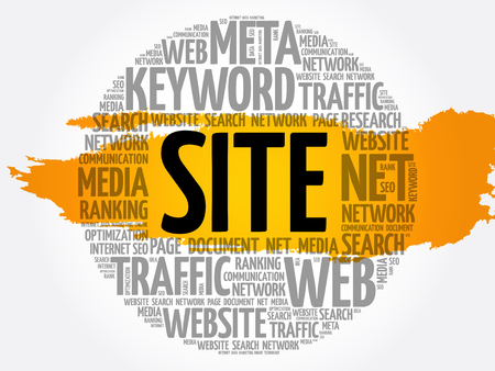 SITE word cloud collage, business concept background Archivio Fotografico - 124949137