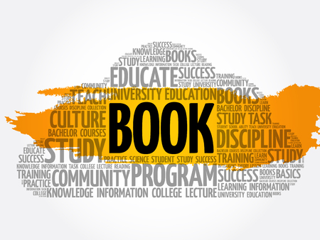 BOOK word cloud collage, education concept background Archivio Fotografico - 124949141