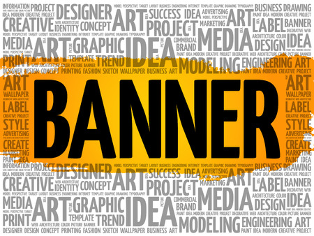 BANNER word cloud, creative business concept background Stock Vector - 124949144
