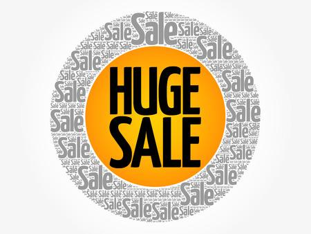 HUGE SALE words cloud, business concept background Archivio Fotografico - 124949145