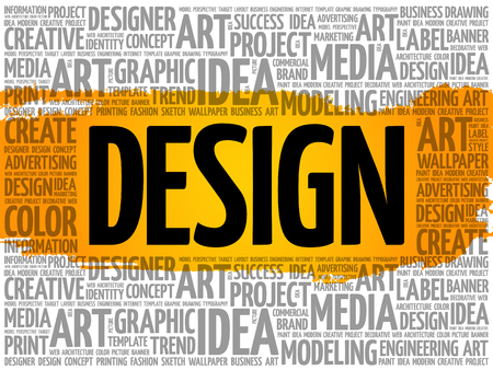 DESIGN word cloud, creative business concept background Archivio Fotografico - 124949148