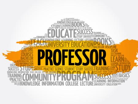 Professor word cloud collage, education concept background Archivio Fotografico - 124949149