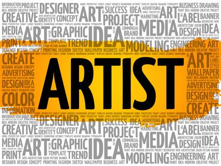 ARTIST word cloud, creative business concept background Reklamní fotografie - 124949151