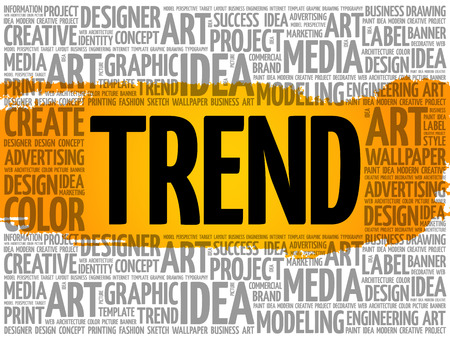 TREND word cloud, creative business concept background Archivio Fotografico - 124949152