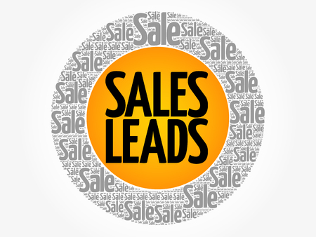 Sales Leads vector words cloud, business concept background Иллюстрация