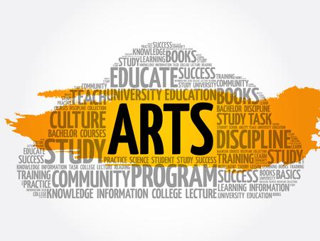ARTS word cloud collage, education concept background Archivio Fotografico - 124949155