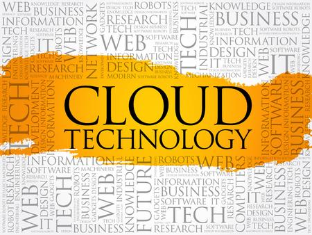 Cloud Technology word cloud collage, internet concept background Archivio Fotografico - 124949165