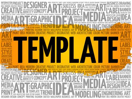 TEMPLATE word cloud, creative business concept background Archivio Fotografico - 124949168