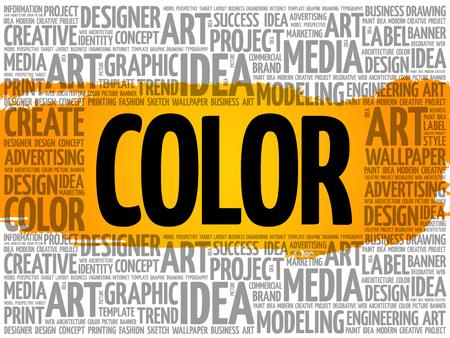 COLOR word cloud, creative business concept background Çizim