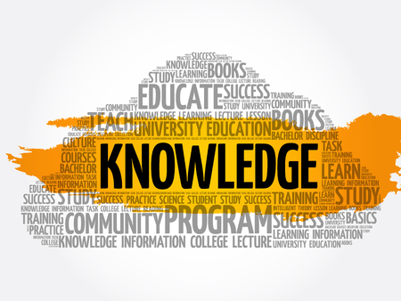 KNOWLEDGE word cloud collage, education concept background  イラスト・ベクター素材