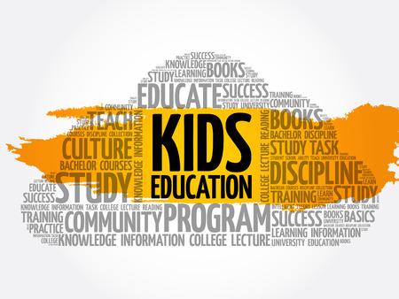 Kids Education word cloud collage, education concept background Archivio Fotografico - 124949176