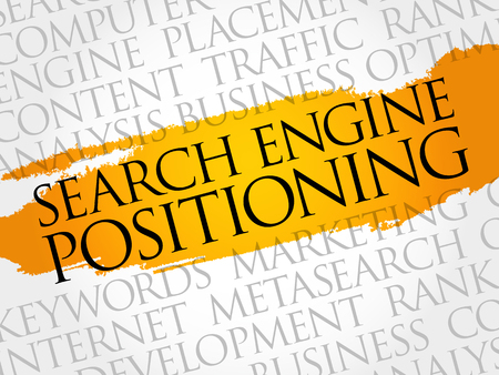 SEP (search engine positioning) word cloud collage, technology business concept background