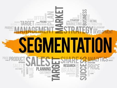 Segmentation word cloud collage, business concept background Banque d'images - 124880362