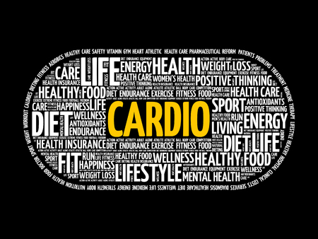 CARDIO word cloud collage, fitness, health concept