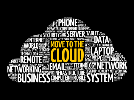 Move to the Cloud word cloud, business concept