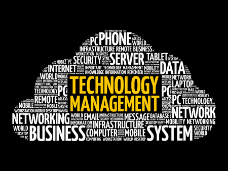 Technology Management word cloud, business concept background Reklamní fotografie - 124809211