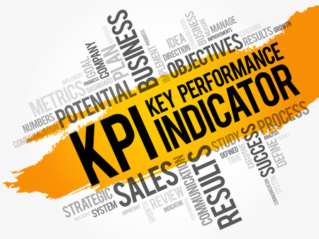 KPI - Key Performance Indicator word cloud collage, business concept background Ilustrace