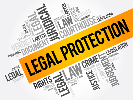 Legal Protection word cloud collage, business concept background Reklamní fotografie - 124723687