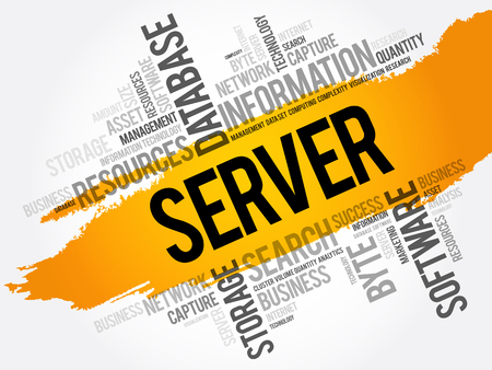 SERVER word cloud collage, technology business concept background Standard-Bild - 124723715