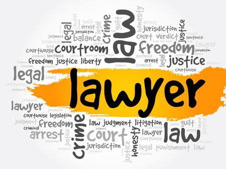 Lawyer word cloud collage, law concept background Reklamní fotografie - 124723717