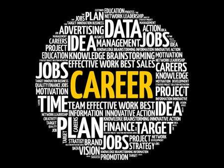 CAREER word cloud collage, business concept background Imagens - 124506988