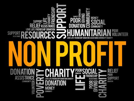 Non Profit word cloud collage, social concept background