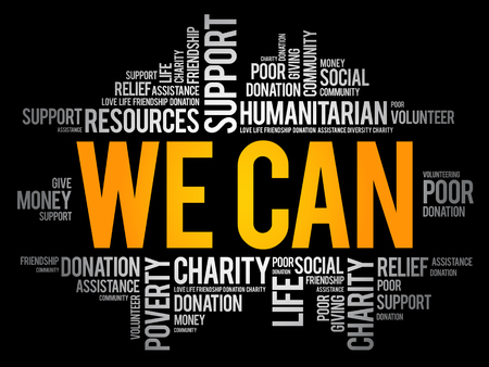 We Can word cloud collage, social concept background