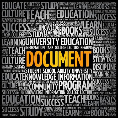 DOCUMENT word cloud collage, education concept background