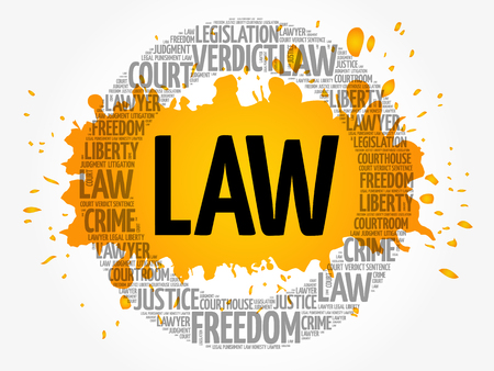 Law word cloud concept background