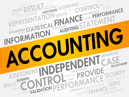 ACCOUNTING word cloud, business concept background