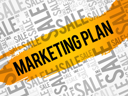 Marketing Plan word cloud collage, business concept background
