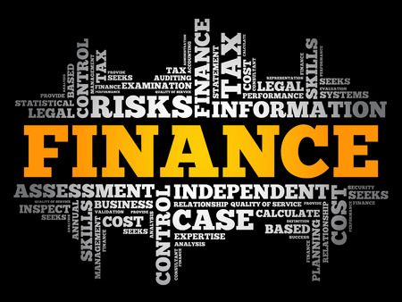 FINANCE word cloud collage, business concept background