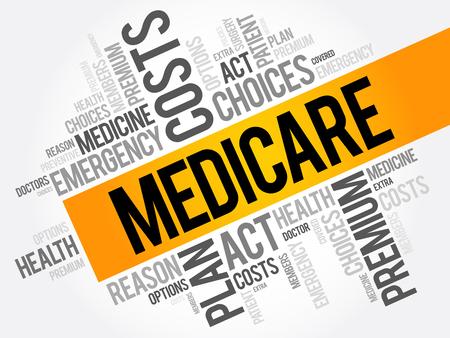 Collage de nuage de mots d'assurance-maladie, fond de concept de santé