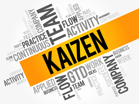 Kaizen word cloud collage, business concept background Illusztráció