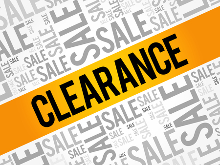Clearance sale words cloud, business concept background Illusztráció
